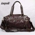 Men Handbags Pu Leather Shoulder Crossbody Bag Vintage Traveling Male Messenger Bags Large Capacity Casual Totes Single Bolsa