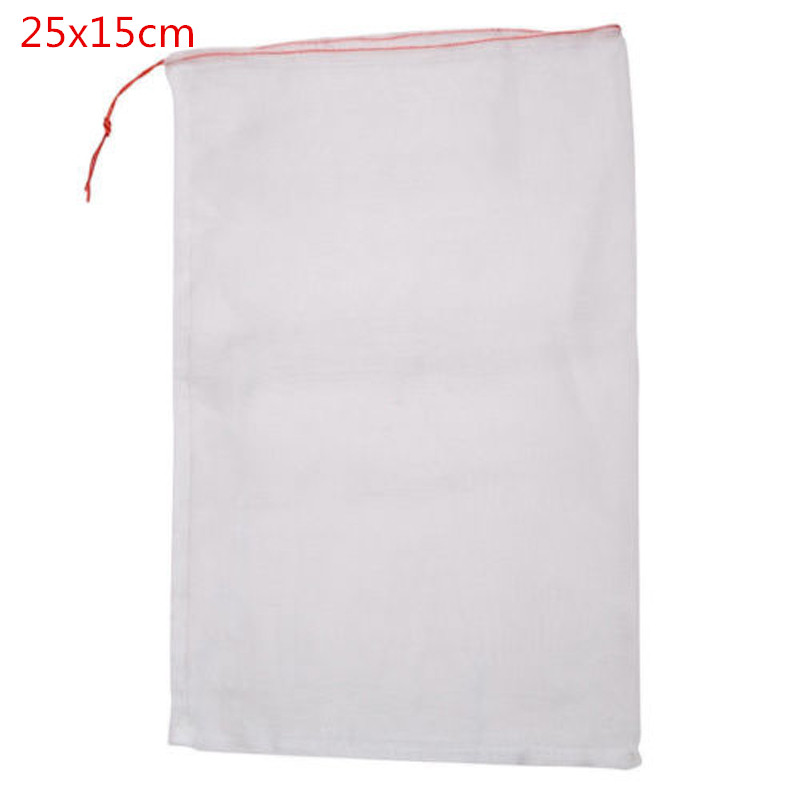 50Pcs White Breathable Garden Plant Fruit Vegetable Protect Drawstring Mesh Net PE Bag Anti Insects Pests Birds 4 Sizes