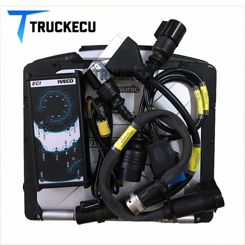 CF30 ordenador portátil + camión escáner de diagnóstico para IVECO ELTRAC fácil con IVECO Eltrac versión 13,1 Iveco Eltrac módulo Bluetooth