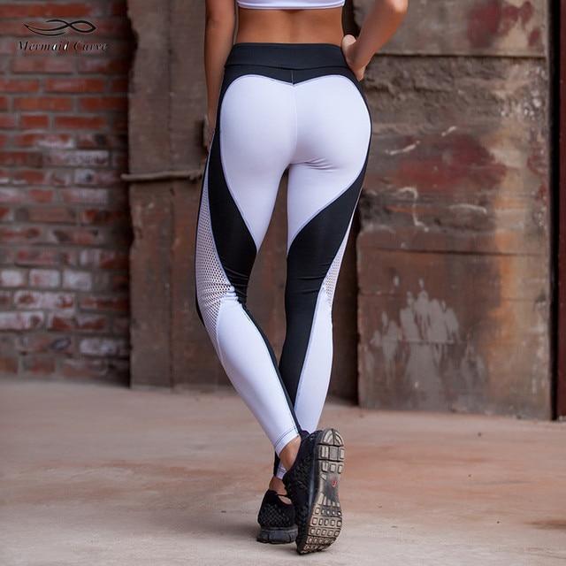 meerjungfrau kurve leggings frauen yoga hosen sport gym. Black Bedroom Furniture Sets. Home Design Ideas
