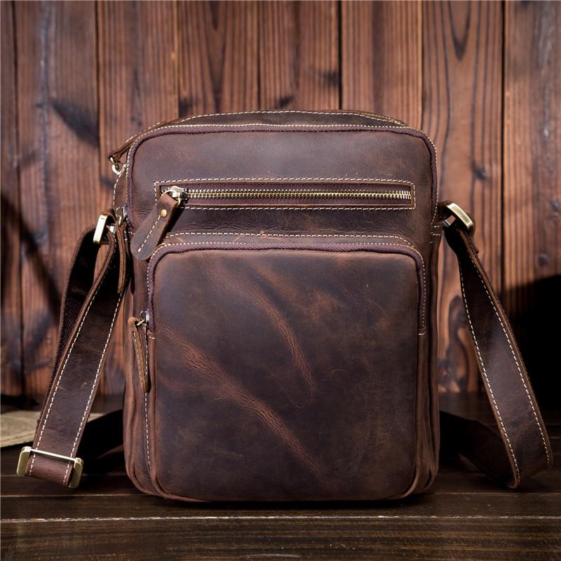 все цены на New Simple Design Genuine Leather Men Bags Small Casual Flap Shoulder Crossbody Bags Mens Travel Bag Mens Bag For Phone SDM9349 онлайн