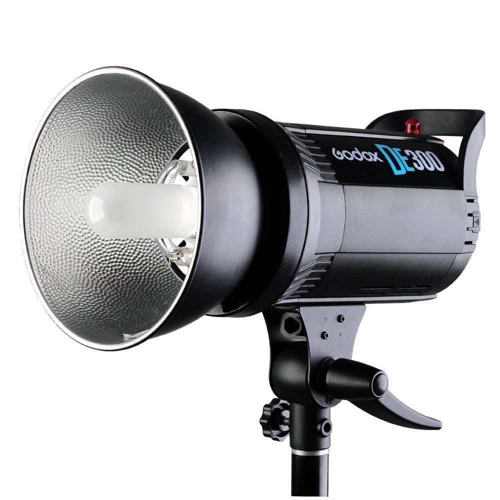 Godox DE300 300W Compact Studio Flash Light Strobe Lighting Lamp Head 300Ws professional de300 300w 300 watts compact studio flash strobe light godox de 300 lamp head 220v