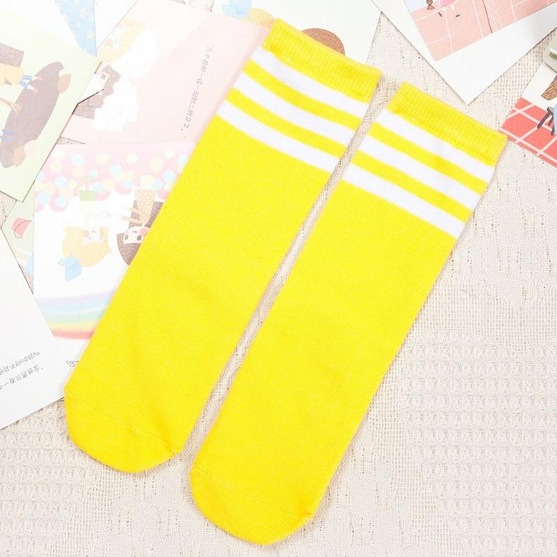 Kids-Knee-High-Socks-for-Girls-Boys-Football-Stripes-Cotton-Sports-Old-School-White-Socks-Skate-Children-Baby-Long-Tube-Leg-Warm-3