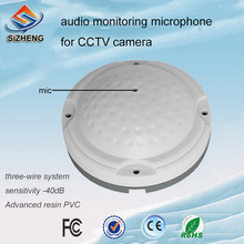 Sizheng COTT-QD25 HI-fidelity audio microphone CCTV sound pickup security accessories for ip camera surveillance device
