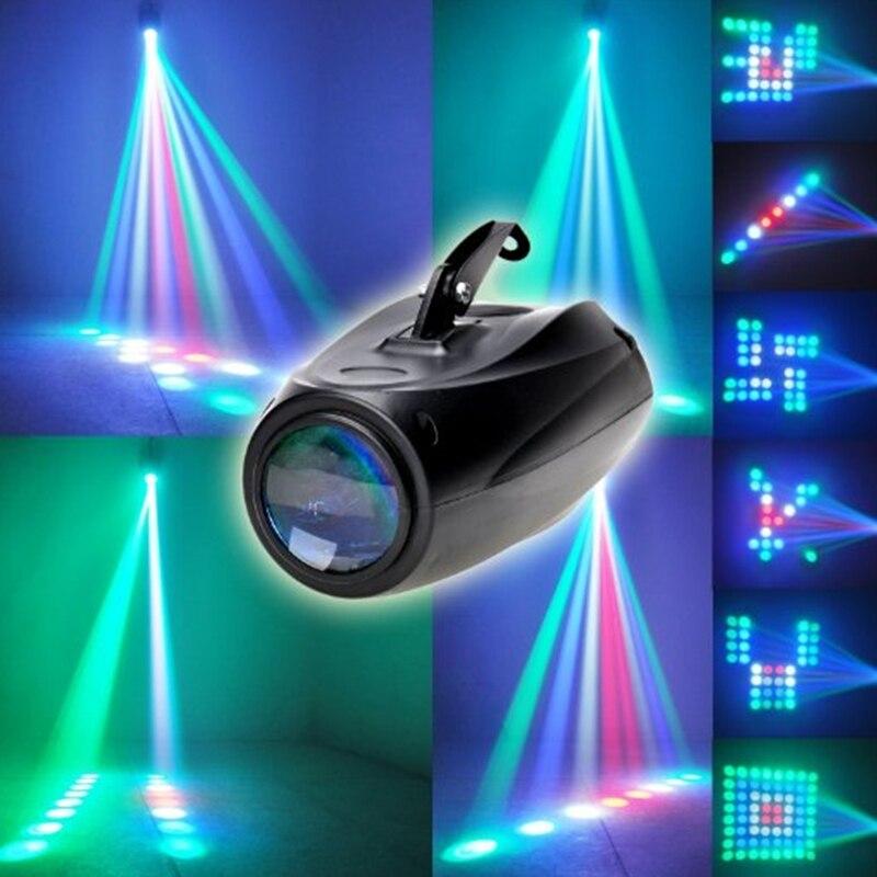 MINI NEW Auto/Sound Active 64 LEDs RGBW Light Disco light Club Party Show Hundreds of Patterns Dj Bar Wedding Stage Party Lights цена