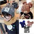 2016 marca de moda otoño invierno de punto recién nacido del ganchillo del sombrero del bebé de la muchacha boy lana cap niños de la gorrita tejida infantil los niños suéter de punto