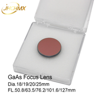 JHCHMX GaAs Focus Lens Dia.18/19.05/20/25mm FL.50.8/63.5/76.2/101.6/127mm 1.5 5 for CO2 Laser Engraving Cutting Machines