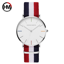 Lovers' Couple Watch For Men Women Luxury Brand Japan Quartz Wristwatches Nylon Strap Female Male Clock Girls And Boys Xfcs