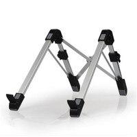 1pc Portable Folding Laptop Stand Aluminum Alloy Notebook Heighten Bracket Adjustable Laptop Lapdesk