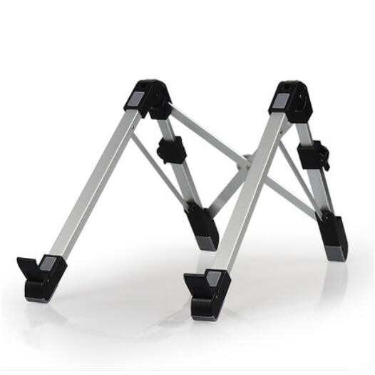 1pc Portable Folding Laptop Stand Aluminum Alloy Notebook Heighten Bracket Adjustable Laptop Lapdesk