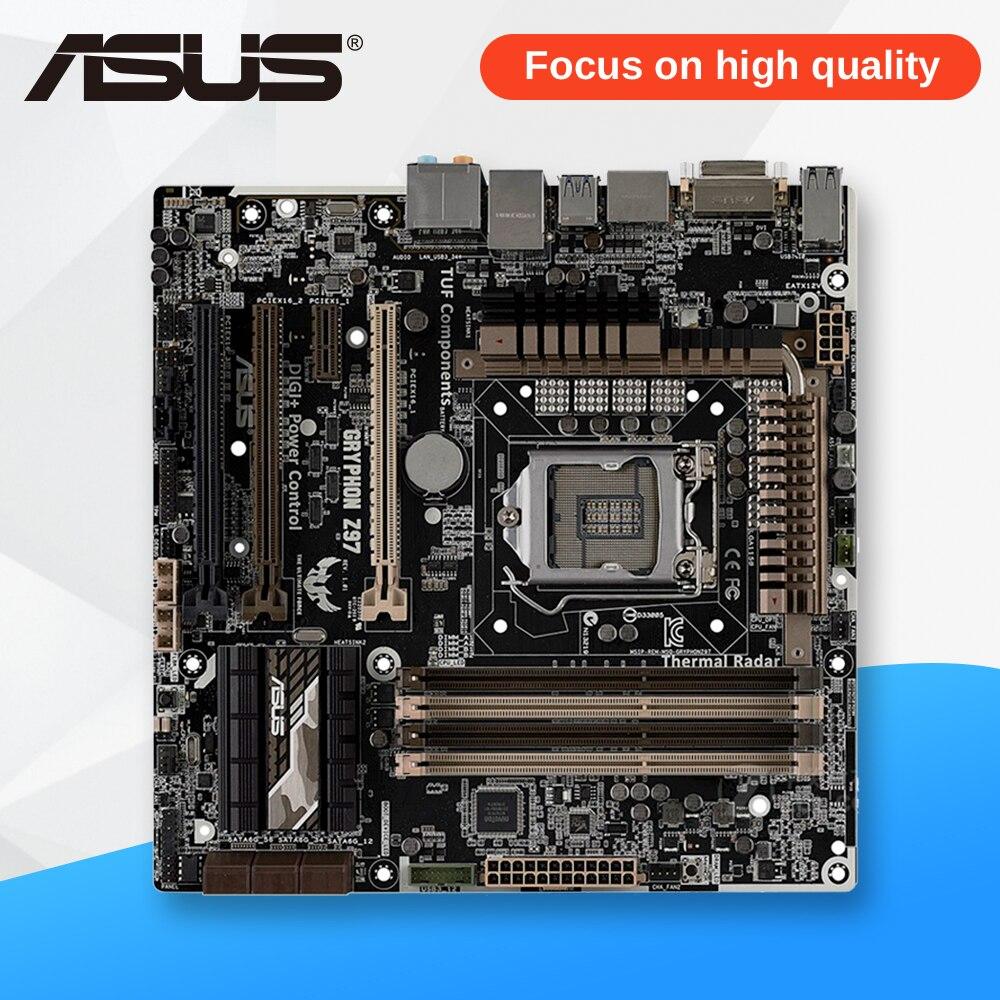 все цены на Asus GRYPHON Z97 TUF Desktop Motherboard Z97 Socket LGA 1150 i7 i5 i3 DDR3 32G SATA3 Micro-ATX
