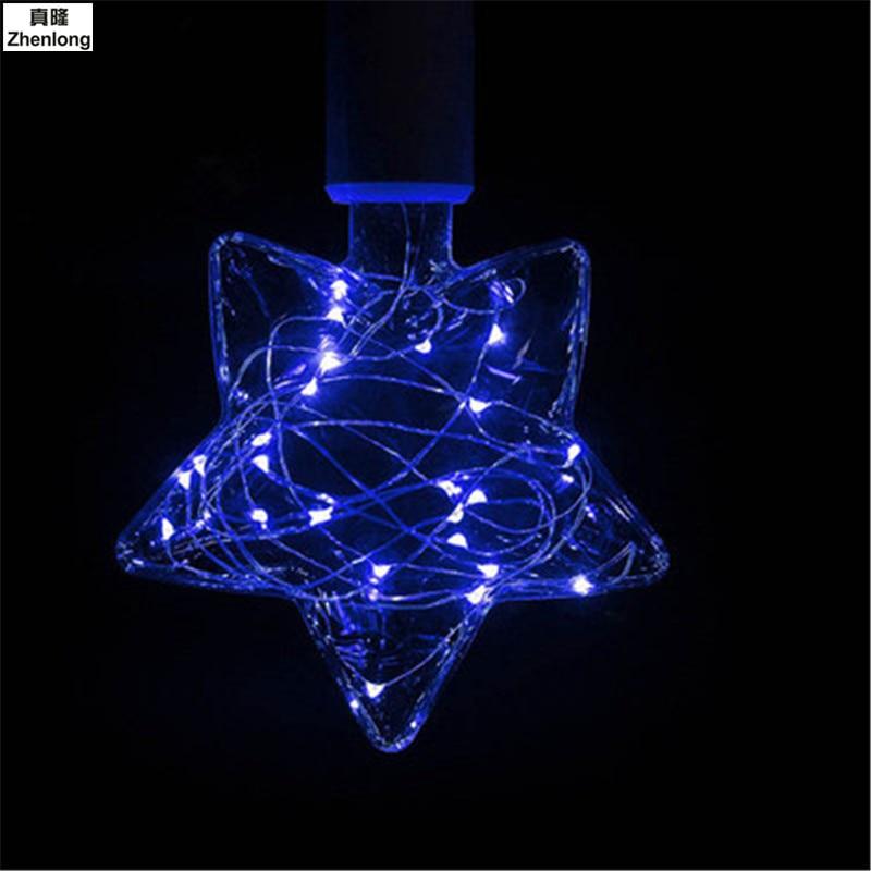 E27 Bulb Studio KTV Living Room Shop Lamp String Lights Pentagram LEDs for Party Wedding Decoration Christmas Flasher Fairy