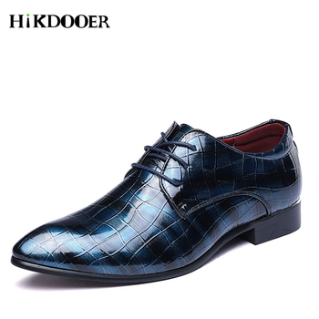 2018 New Men Wedding Brogue Formal Dress Shoes Party Office Leather Oxfords Shoes for Men Party Wedding Anniversary Shoes