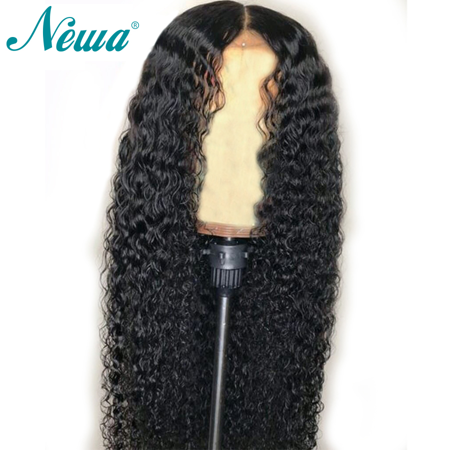 NYUWA Full Lace Human Hair Wigs Pre Plucked With Baby Hair Brazilian Remy Hair Glueless Curly