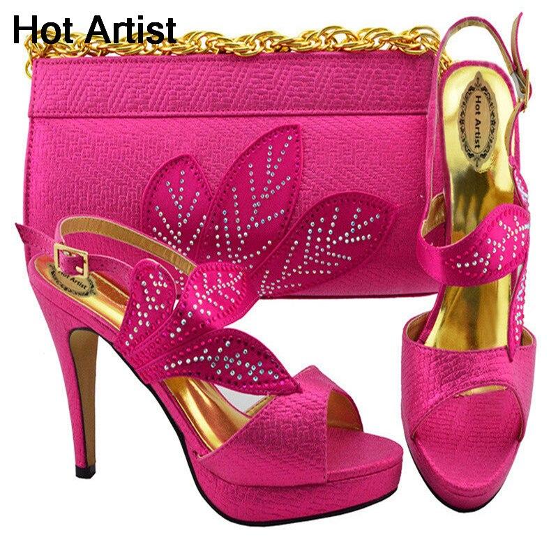 3be59cc57c0a2f Chaussures Chaude Nigeria D'été Hauts Le 2018 fuchsia Femme Sac Ciel  Mariage Afrique watermelon jaune ...