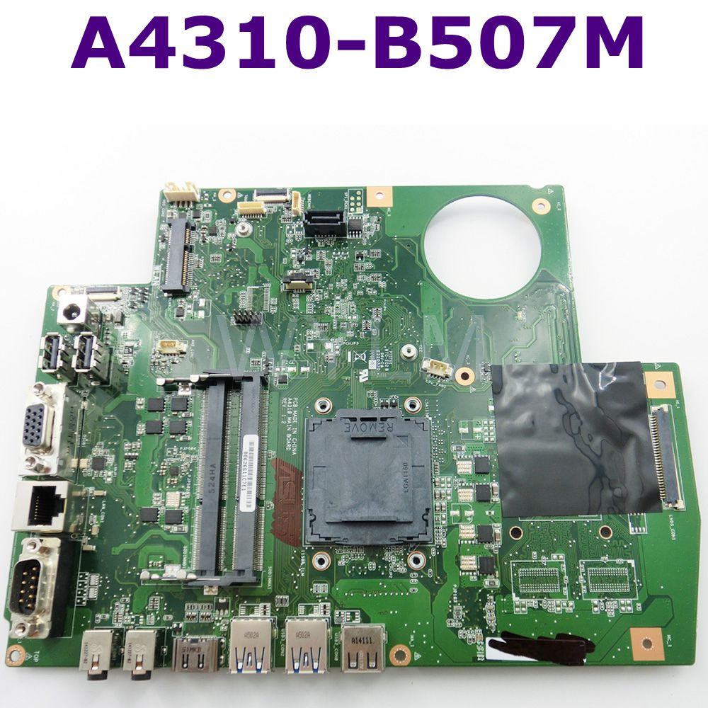 A4310-B507M All-in-one motherboard REV 1.2 For ASUS A4310 MAIN BOARD Desktop mainboard 90PT00X0-R01000 100% Tested free shipping free shipping 1225b mainboard rev 2 1 for asus 1225 1225b laptop motherboard main board 100