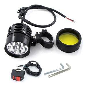 Image 4 - Feu antibrouillard pour moto phare LED, blanc et jaune, 2x6000 lm, phare de route, étanche, accessoires pour moteur, 3000K/K, 12V