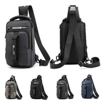 Mochila versátil con USB Oxford para hombre a la moda para exteriores, mochila para hombre, modelo #400