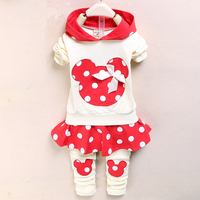 The Autumn Winter Minnie Children S Clothing Sets For Girls Hoodie Pant Pure Cotton Long Sleeve