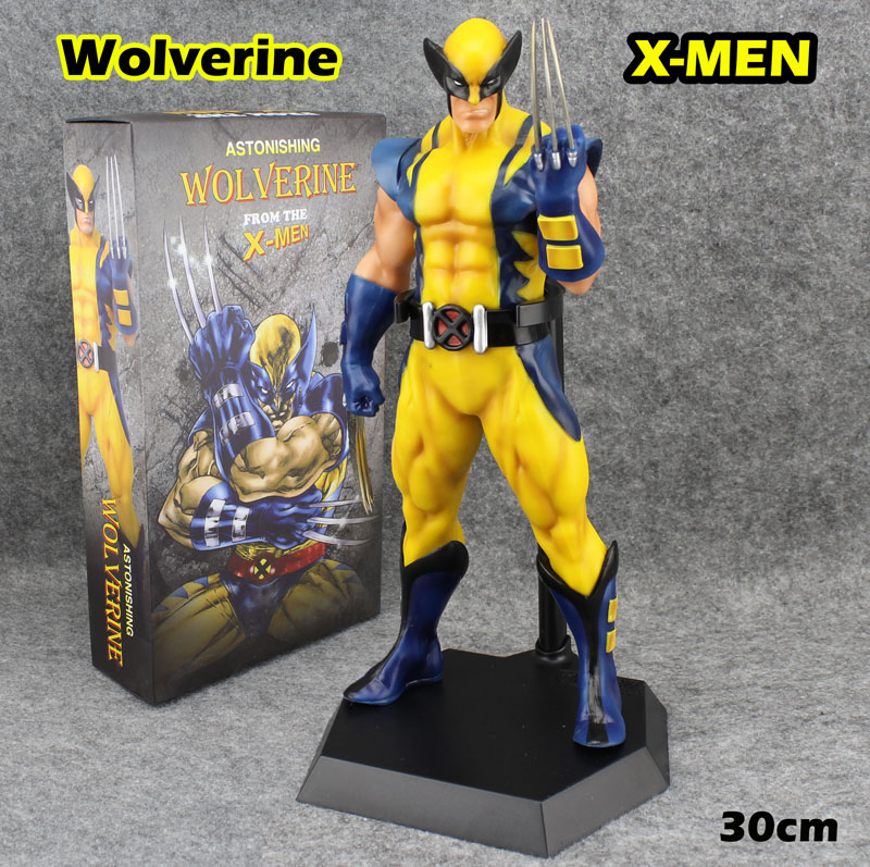 Free Shipping Cool 12 ASTONISHING X-MEN Movie The Wolverine Comics Ver.  Boxed 30cm PVC Action Figure Collection Model Doll Toy free shipping cool big 12 justice league of america jla super man superman movie man of steel pvc action figure collection toy
