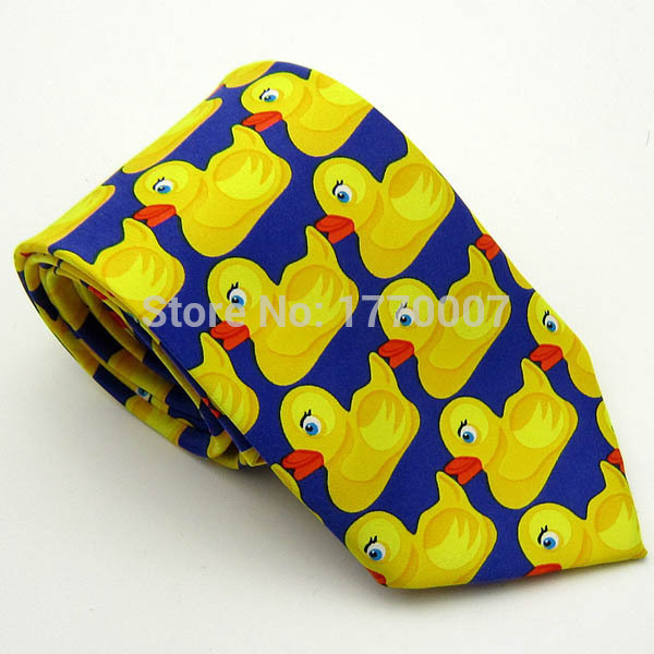DUCKY TIE Marshall Barney Polyester Tie Duck Duckie Necktie Neck How I Met Your Mother