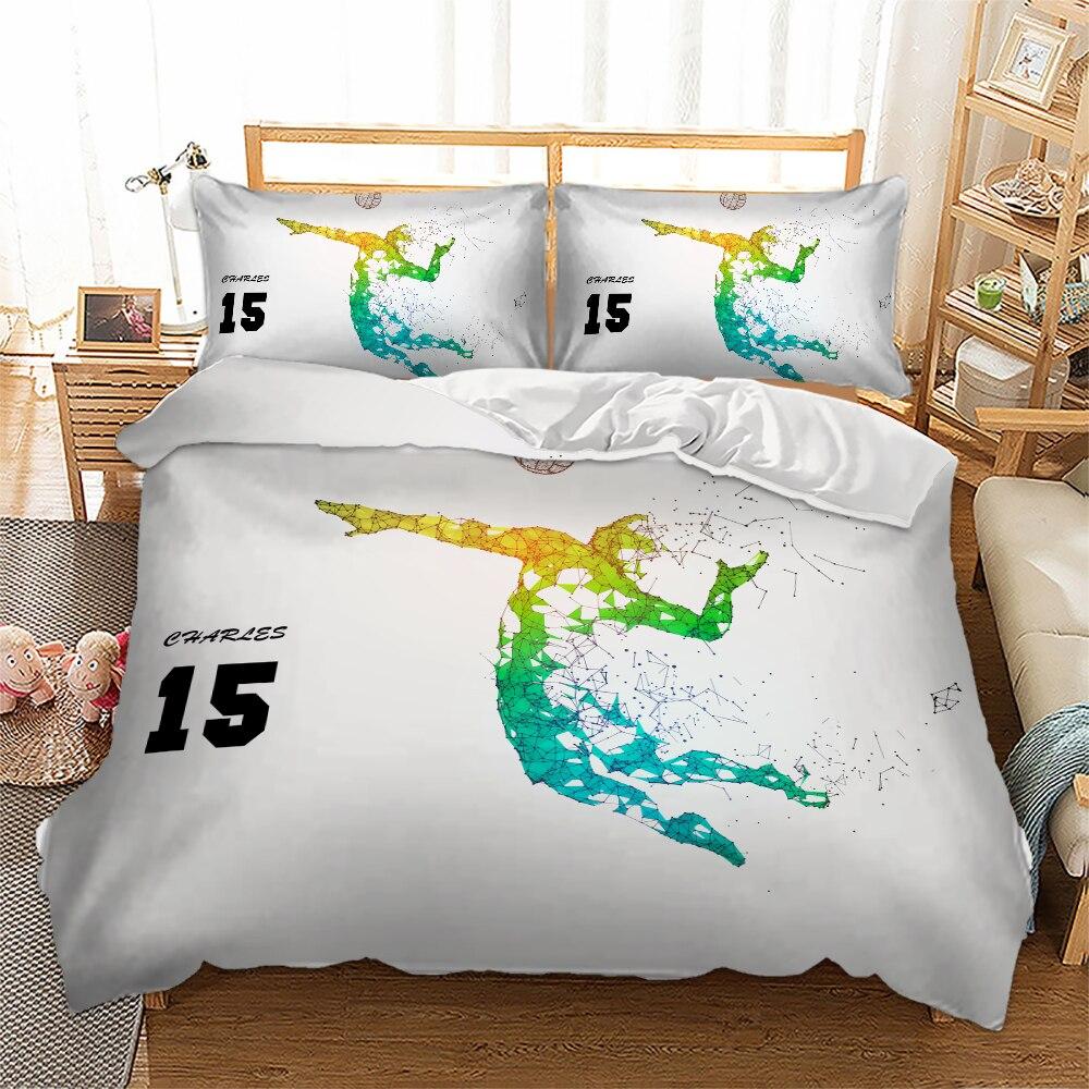 Volleyball Sports Duvet/Quilt Cover Pillowcase Single Queen King Bedding Set Bedlinen New 3pcs