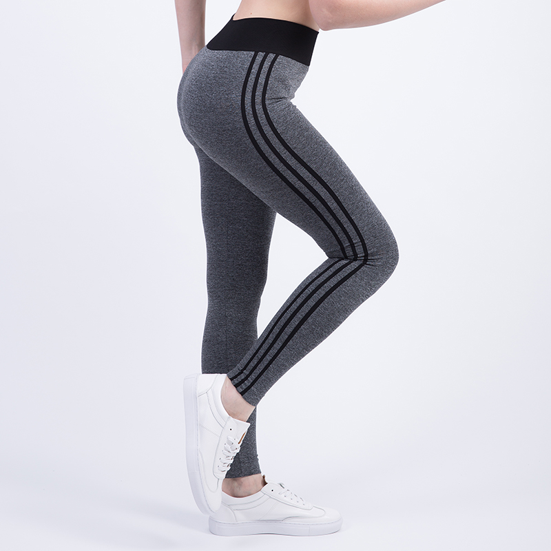 Tresdin New Women Sexy Cropped Leggings High Waist Elastic Wicking Force Exercise Female Elastic Stretchy Leggings Slim Trousers 3