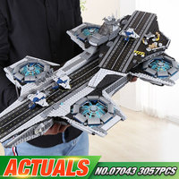 3057pcs Lepin 07043 Super Heroes The Shield Helicarrier Model Building Kits Mini Figure Blocks Bricks Toys