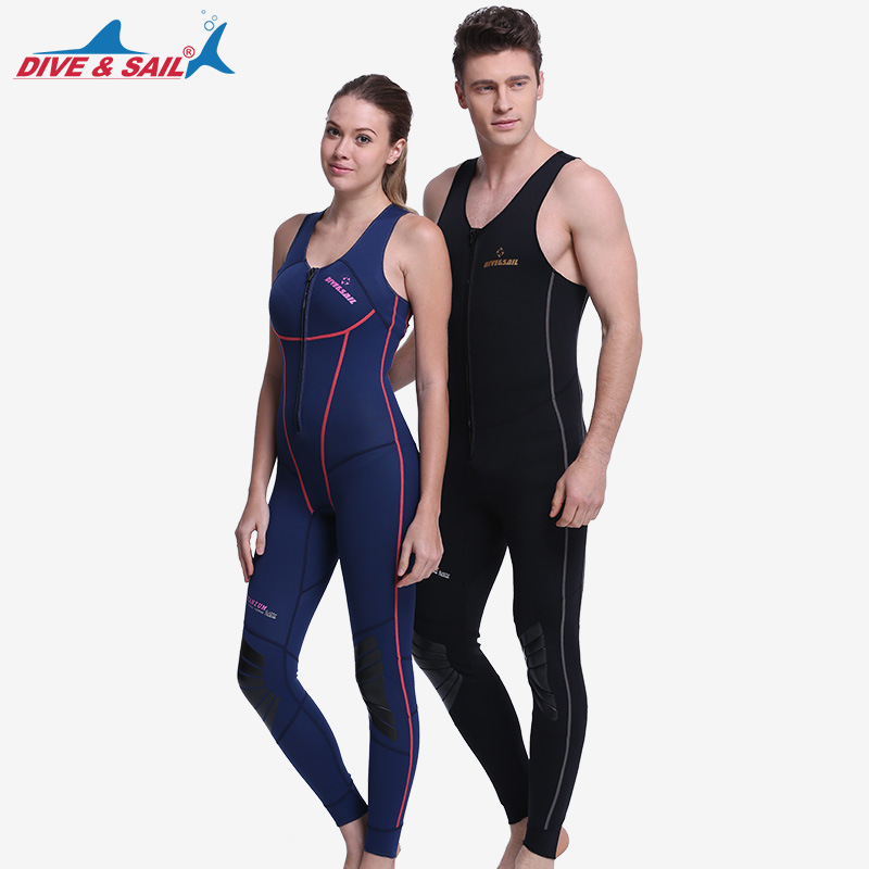 Diving suit 1MM Neoprene SCR One-piece No sleeved Diving Wetsuit For Men Women anti cold warm skin diving suit
