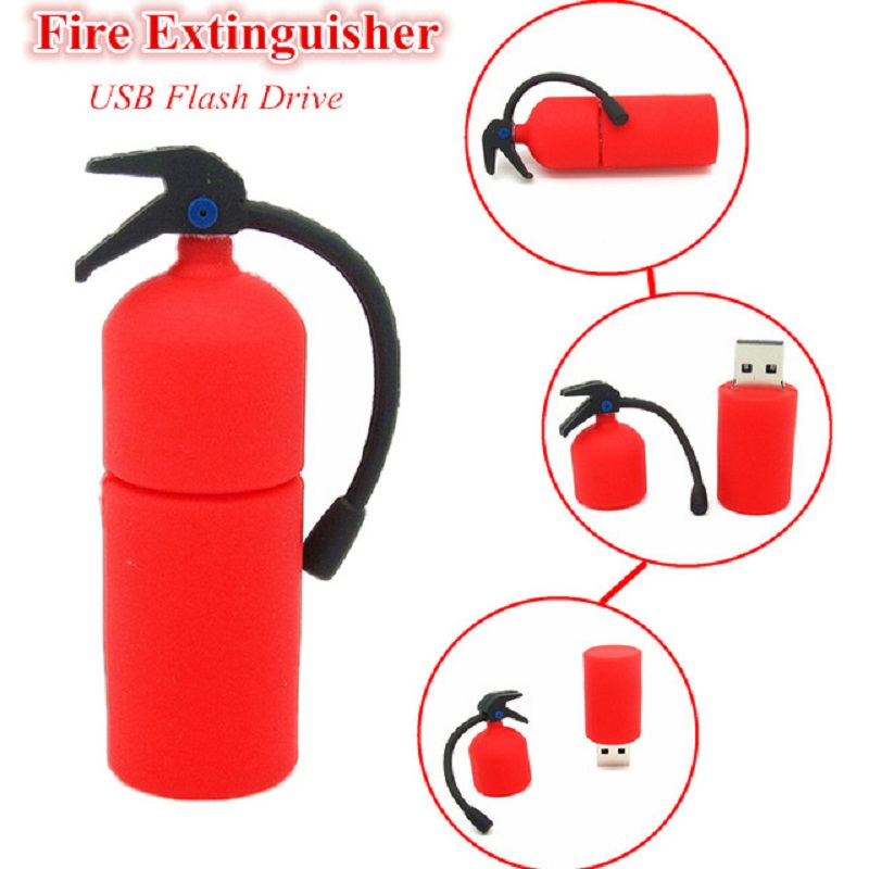 Funny Red Fire Extinguisher Usb Flash Drive Disk Memory Stick Mini Gift Pen Drive Personalizado Pendrive  4gb 8gb 16gb 32gb