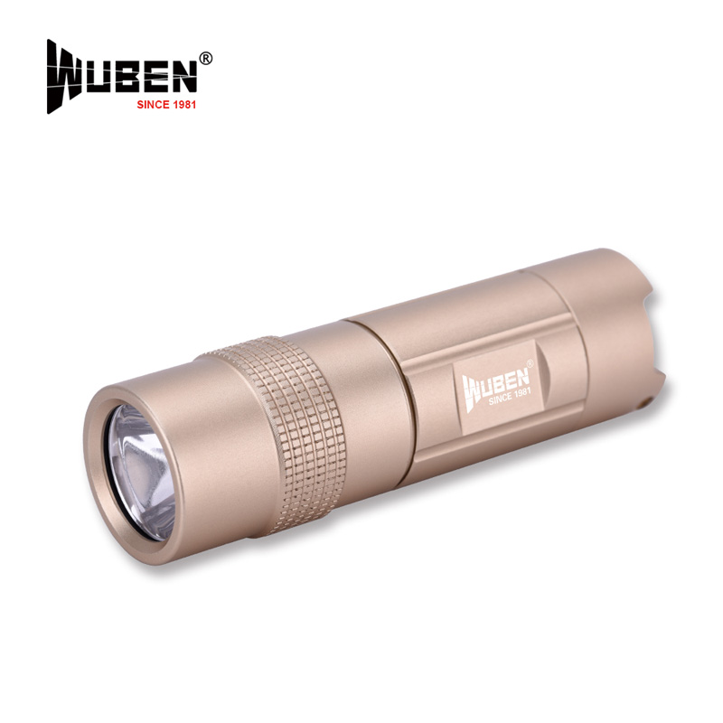WUBEN LED Torch Mini USB Rechargeable Keychain Lamp 300 Lumens Real Tested Tactical Flashlight Household Hard light + Battery 1pc mini keychain pocket torch usb rechargeable light flashlight lamp 0 5w 25lm multicolor mini torch new arrival