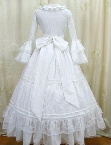 Здесь продается  (LD022) White Long Sleeves Gothic VictorianLolita Dress Ball Gown Fancy Prom Dress Halloween Party Masquerade Costume  Одежда и аксессуары