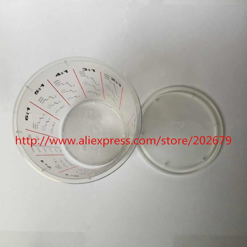550 ML transparente copo de plástico copo descartável pintura escala PP copo com tampa copo da pintura pintura de mistura