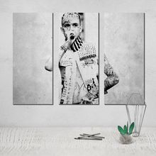 Photo Canvas Poster Lil Peep Painting Black White Modern and Contemporary 3 Panel Wall Art Afflatus Pop