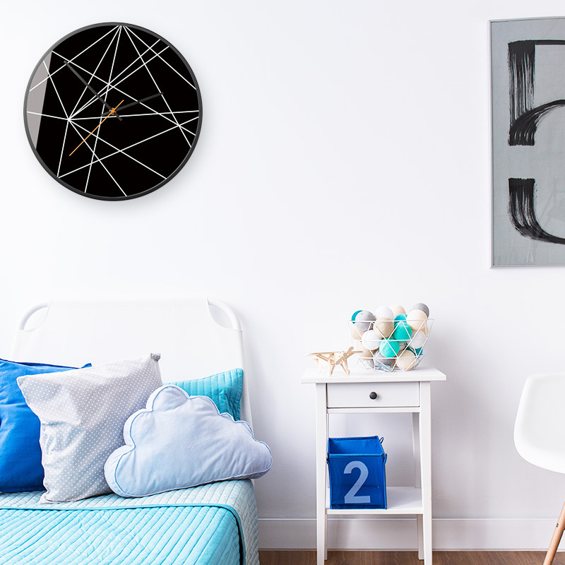 Home Modern Minimalist Clocks Living Room Wall Clock Creative Bedroom Nordic American Charts Mute Personality Decoration Round