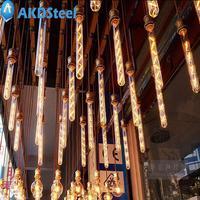 AKDSteel Vintage Edison Bulb E27 8W Tubular Nostalgic Filament Incandescent Antique Light Bulb Home Lamp Fixtures