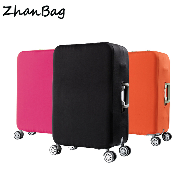Travel elastic luggage cover protector Stretch fabric zipper suitcase protective covers Travel accessories case for luggage
