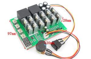 Image 3 - WS16 تيار مستمر 10 55 فولت 12 فولت 24 فولت 36 فولت 48 فولت 55 فولت 100A موتور سرعة تحكم PWM HHO RC عكس التحكم التبديل مع LED العرض
