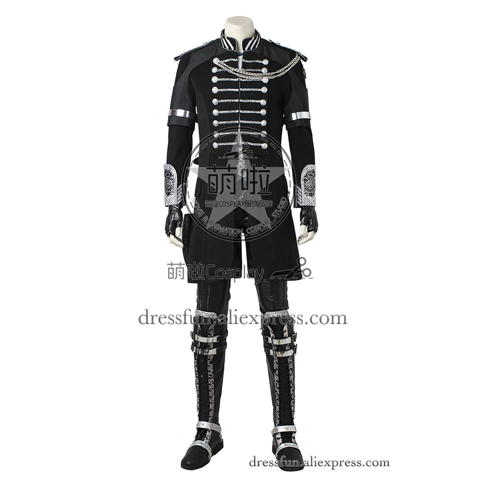 Final Fantasy XV Cosplay CostumeNoctis Lucis Caelum Costume Black Uniform Full Set Cool Three-Quarter Coat Movie Version