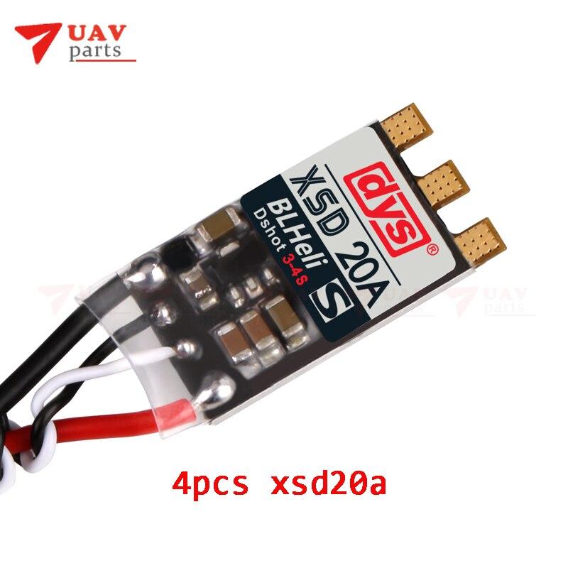 4pcs DYS XSD 20A XSD20A ESC 20A 3 4S BLheli S Brushless ESC Support Dshot600 Dshot300