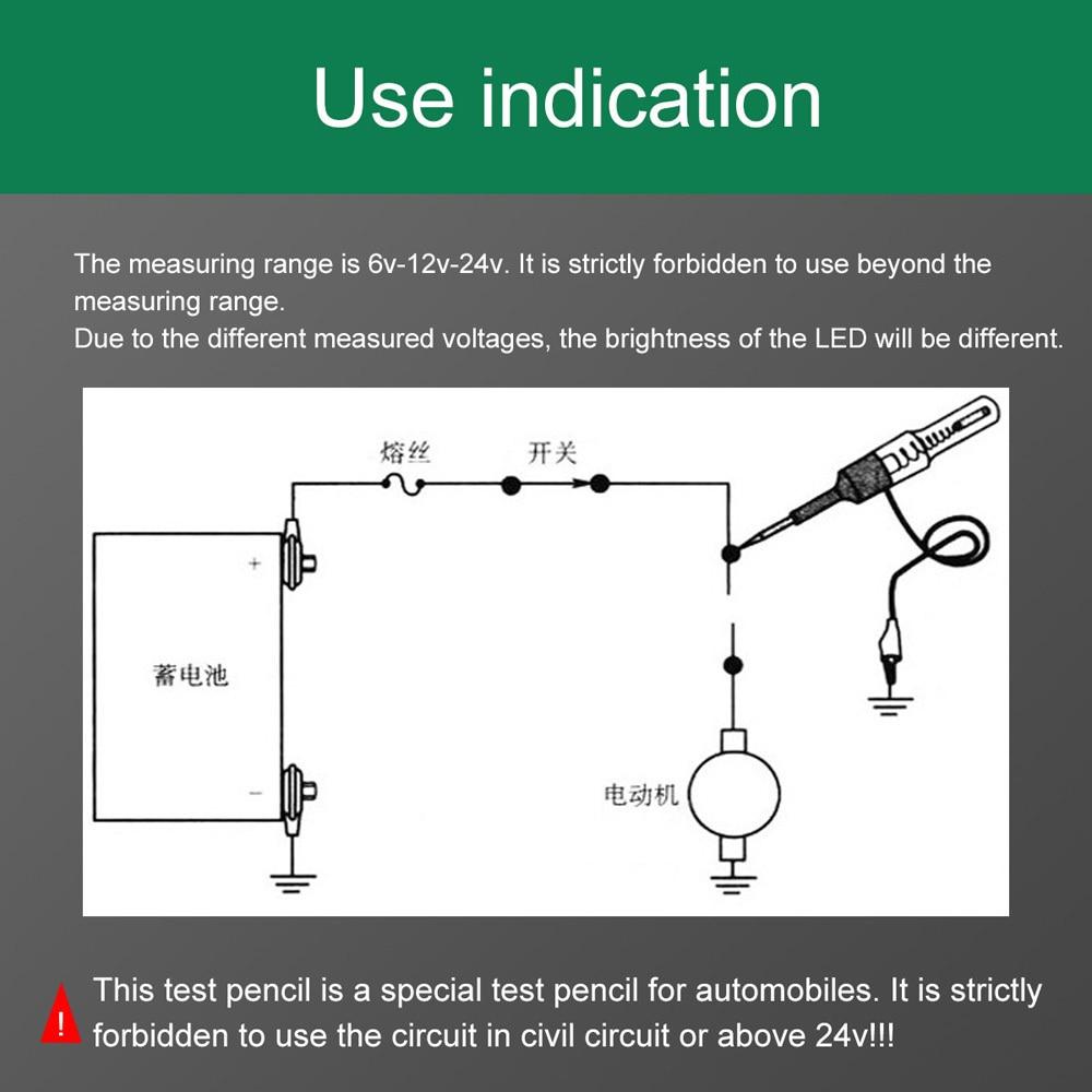 SPEEDWOW авто свет цепи тестер напряжение лампы DC 6 в 12 В 24 В медный тест Ручка детектор зонд свет система тест зонд лампа