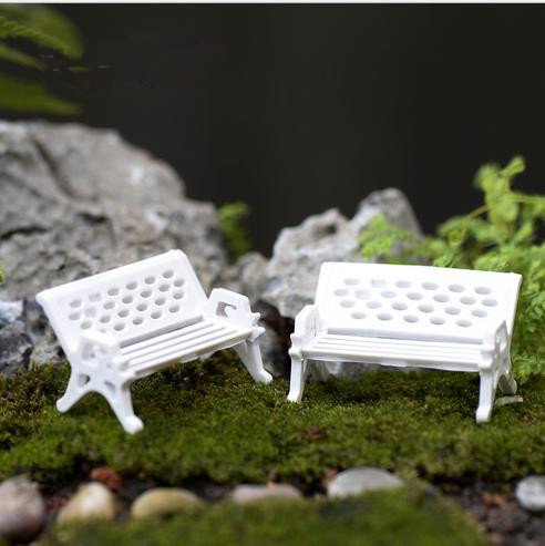 (Miniorder $5) sale~1Pcs/white chair/doll house//miniatures/lovely cute/fairy garden gnome/moss terrarium decor/crafts/bonsai