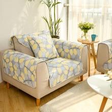 Tuedio 100 Cotton Sofa Cover Modern Yellow Towel 1pcs