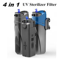 4 in 1 Aquarium UV Sterilization Filter Fish Tank Submersible Filter Pump Water Circulating UV Sterilizer Lamp Air Pump
