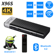 X96S Mini PC Android 8.1 TV Box Amlogic S905Y2 DDR4 4GB RAM 32GB ROM Stick 5G WiFi Bluetooth 4.2 4K HD Smart Media Player