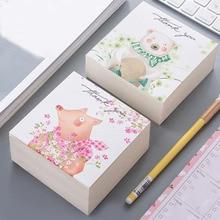 1 Pcs Cartoon Bear Fox Pig Memo Pad Kawaii Notes Paper Practical Notepad Kawaii Stationery Pepalaria Office School Supplies