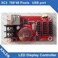 10 pçs/lote XC3 suporte de placa de controle levou 768x48 p10 única cor exterior levou visor do módulo de pixel painel de correr texto