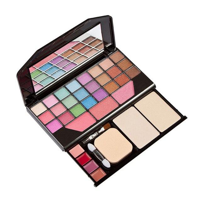 Professional Cosmetic Makeup Set 7pcs Lip Eyeliner Foundation Eyeshadow Brush+Eye Shadow Lip Gross blush Powder Beauty Set