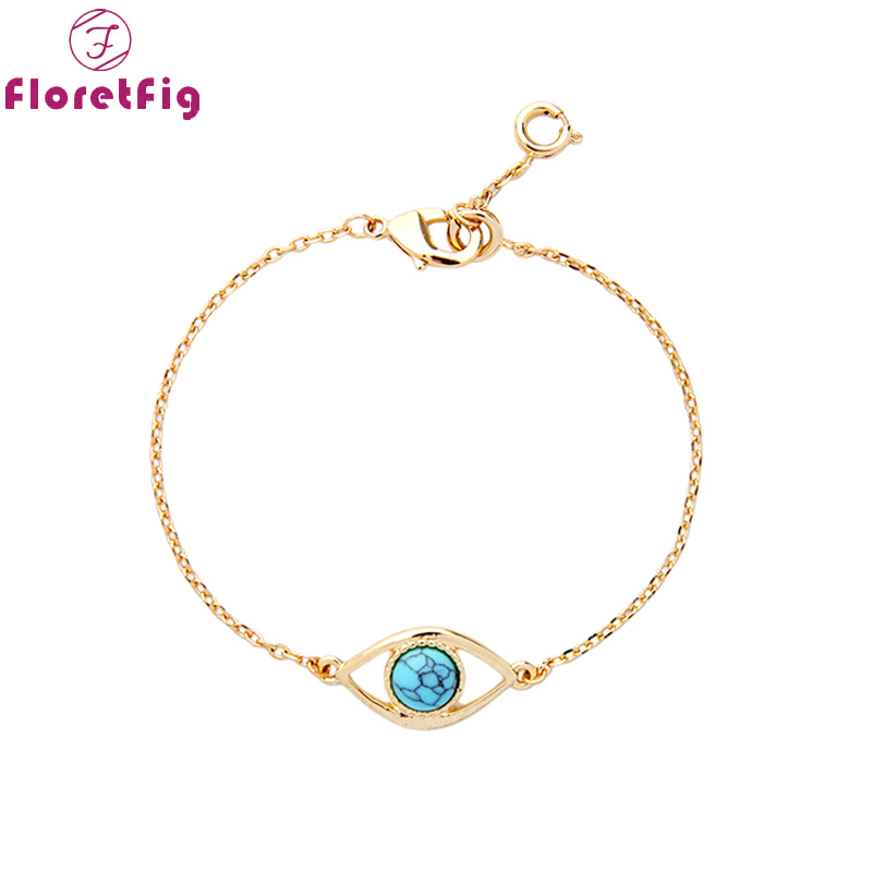 Floretfig turkish evil eye gold bracelets & banglesmala braclets simple stone beads bracelets evil eye jewelry bracelets