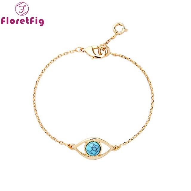 590ecf17399fc Floretfig turkish evil eye gold bracelets   banglesmala braclets simple  stone beads bracelets evil eye jewelry bracelets